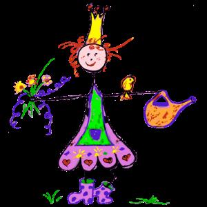Süße Gartenprinzessin