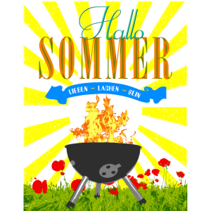 Hallo Sommer Grillmotiv