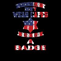 Wirkliche Heros tragen eine Abzeichen-USA-FLAGGE