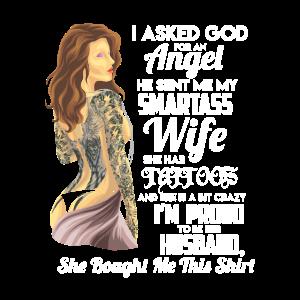 XASTY Tattoo Frau sexy Ehefrau stolzer Ehemann