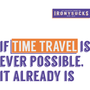 If time travel is ever possible, it already is.