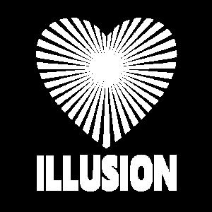 Herz Illusion optische Täuschung Trennung Liebe