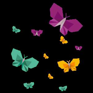 Origami Schmetterlinge Insekt Polygon