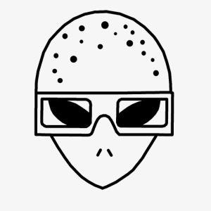 Mr3DAlien Logo Black