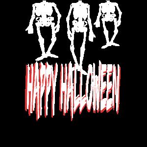 Happy Halloween haengende Skelette