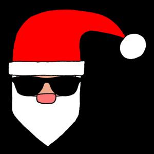 Santa mit Zipfelmütze & Sonnenbrille