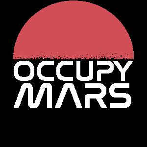 Occupy Mars Raumfahrt Mond Spaceshuttle T-Shirt
