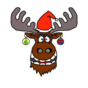 Elch Weinachtsmann Weihnachten Weihnachtskugeln