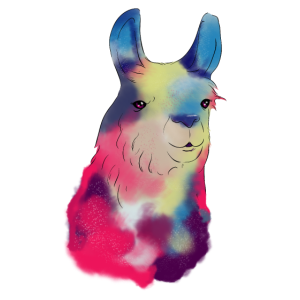 Süße Galaktische Lama Weltraum Exploration Lama