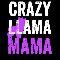 Verrückte Lama-Mama, lustiges Lama, Lama-Geschenk
