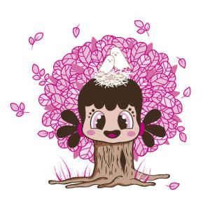 Wald-Mädchen Kawaii pink
