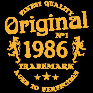 1986 Vintage Geburtstag