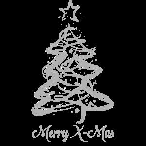 Weihnachten mit Weihnachtsbaum und Weihnachtsstern