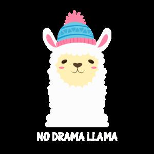 Süßes No Drama Lama Mit Mütze Lustiges Lama Design