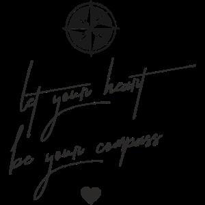 Heart compass schwarz