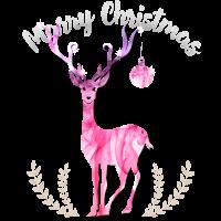 merry Xmas elch kitsch weihnacht pink ugly hirsch