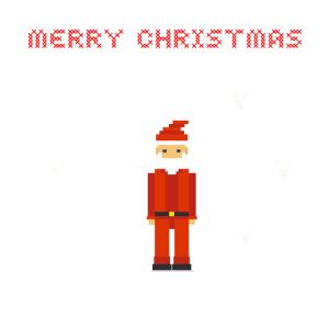 game weihnachtsmann pixel nerd ugly christmas humo