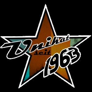 Unikat seit 1963 Stern Geschenk Geburtsjahr Retro