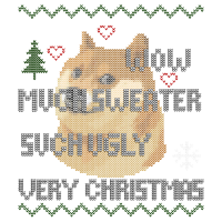 Doge Meme Ugly Christmas Pullover Sweater Hoodie
