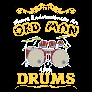 Drummer Geschenk fuer Schlagzeuger Musiker