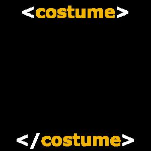 Halloween Kostüm HTML Code IT Nerd Tech Support