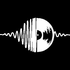 Schallplatte Motiv Geschenk Idee weiss
