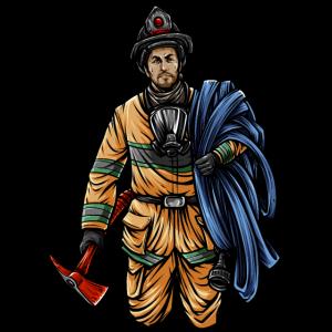 Feuerwehrmann Illustration - Feuerwehr Held