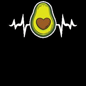 Avocado EKG Herzschlag Heartbeat Geschenk