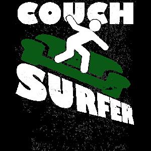 COUCH SURFER Surfing Reisen Abenteuer Geschenk