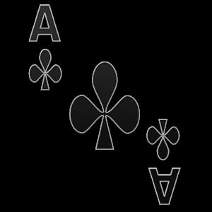 Kreuz Ass Spielkarte Karten Spiel Kostüm Shirt