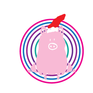 Schwein - Muetze - Geschenk - Merry Christmas