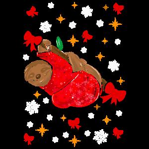 Süßes Weihnachtliches Faultier