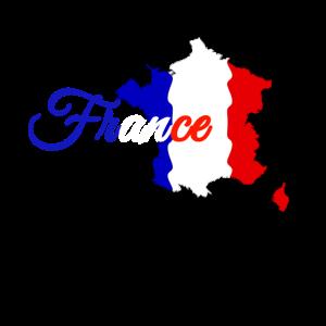France Nationalitaet Flagge Shirt Geschenk