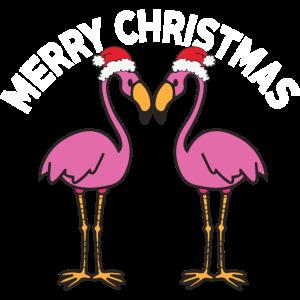 Flamingo - Muetze - Geschenk - Frohe Weihnachten