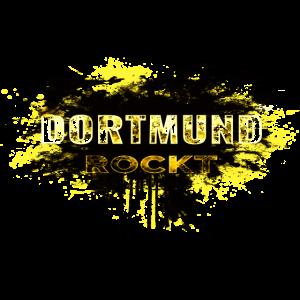 DORTMUND ROCKT IN SCHWARZ GELB