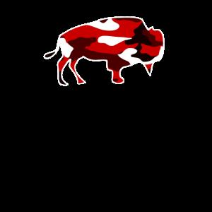 Camo rasender Büffel Tarnung ich liebe Büffel