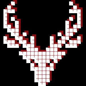 elch rot - reindeer xmas