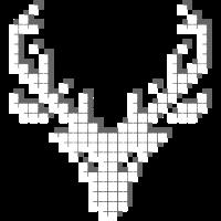 elch schwarz flimmern