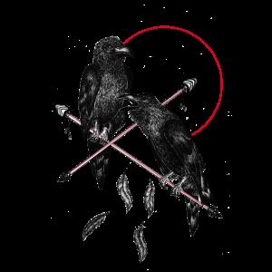 Zwei schwarze Raben