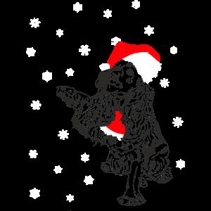 Cocker Spaniel mit Weihnachtsmütze