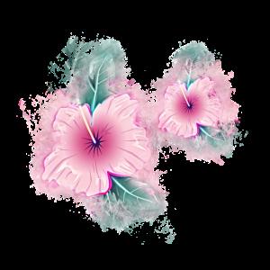 Blume Clipart hell glühend
