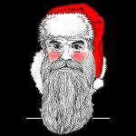 Weihnachtsmann errötet (für farbige Untergründe)