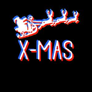 Neon X-Mas - Weihnachtsschlitten
