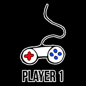 Player 1 Controller - Partnerlook, Geschenkidee