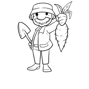 Held des Gartens Garten Opa Gärtner Rübe Geschenk