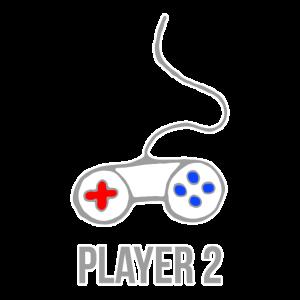 Player 2 Controller - Partnerlook, Geschenkidee