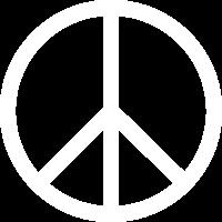 Peace zeichen dick