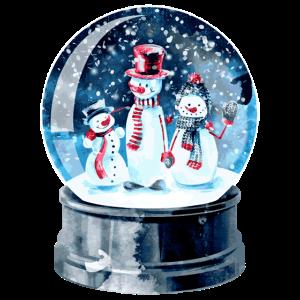 Schneekugel Treffen der Schneemänner