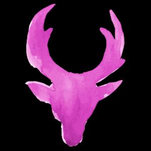 weihnachtlicher Rentierkopf pink