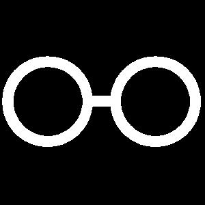 Weiße Brille